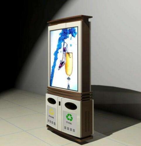 新興滾動廣告垃圾箱