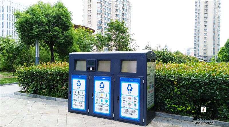 供应户外分类垃圾箱 乌鲁木齐垃圾分类 积分4分类智能垃圾箱雨棚