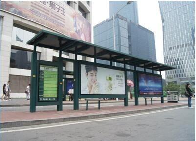 通州不锈钢公交站台方案