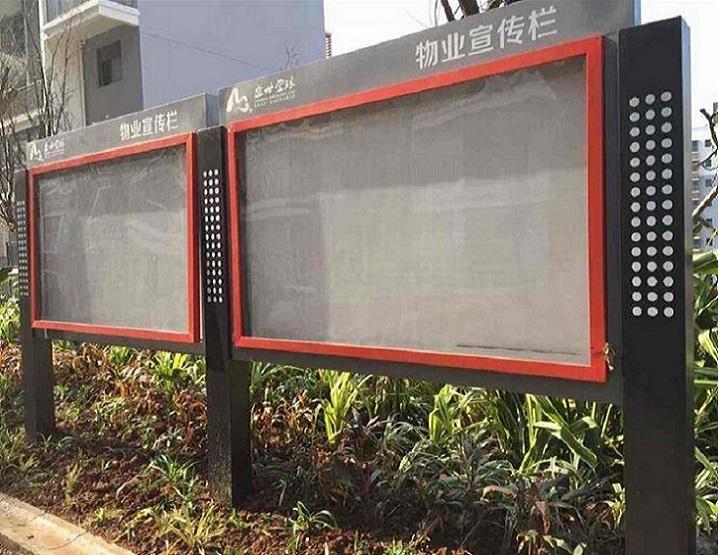 杭州櫥窗宣傳欄不銹鋼宣傳欄新品推廣