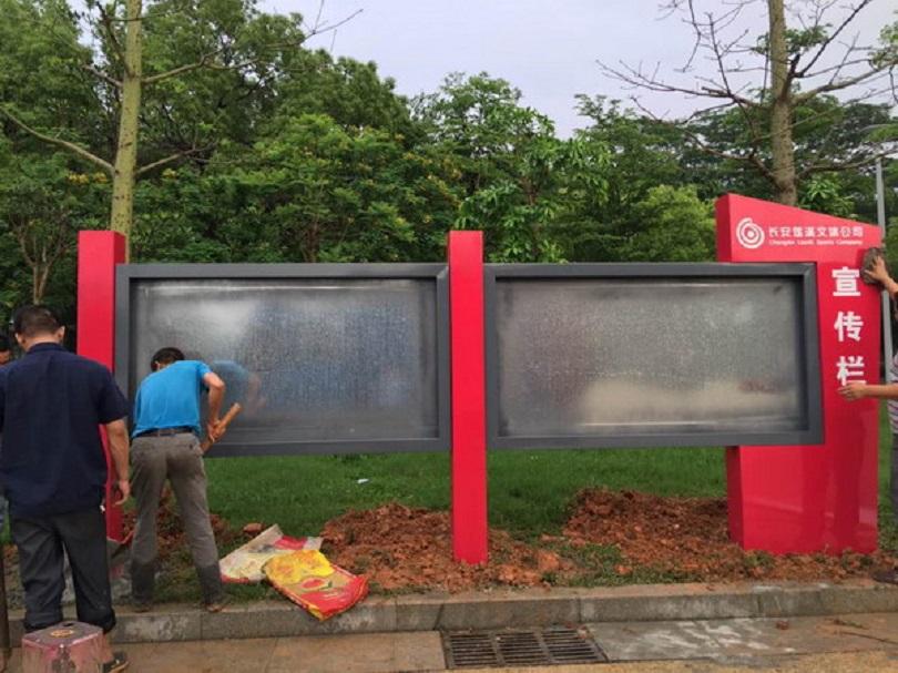 杭州櫥窗宣傳欄不銹鋼宣傳欄生產基地