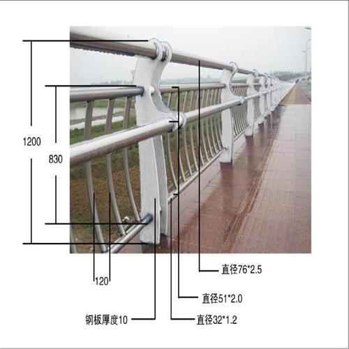 丰台不锈钢碳素钢复合管桥梁护栏生产基地