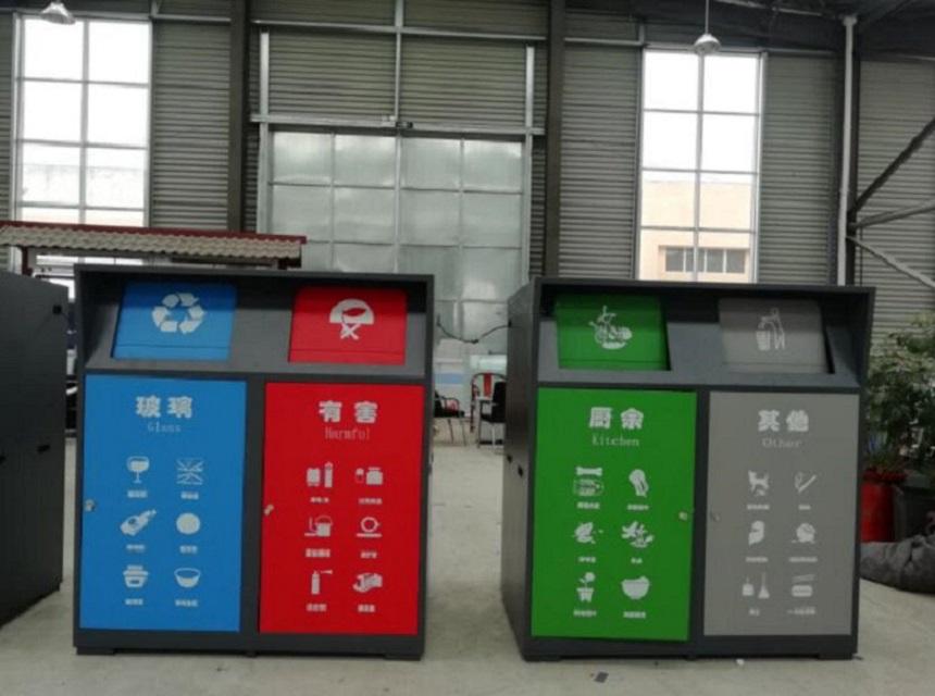 门头沟多功能垃圾房垃圾箱来图定制