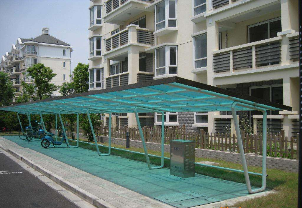 朝阳户外膜结构自行车棚制作