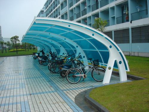 朝阳户外膜结构自行车棚设计