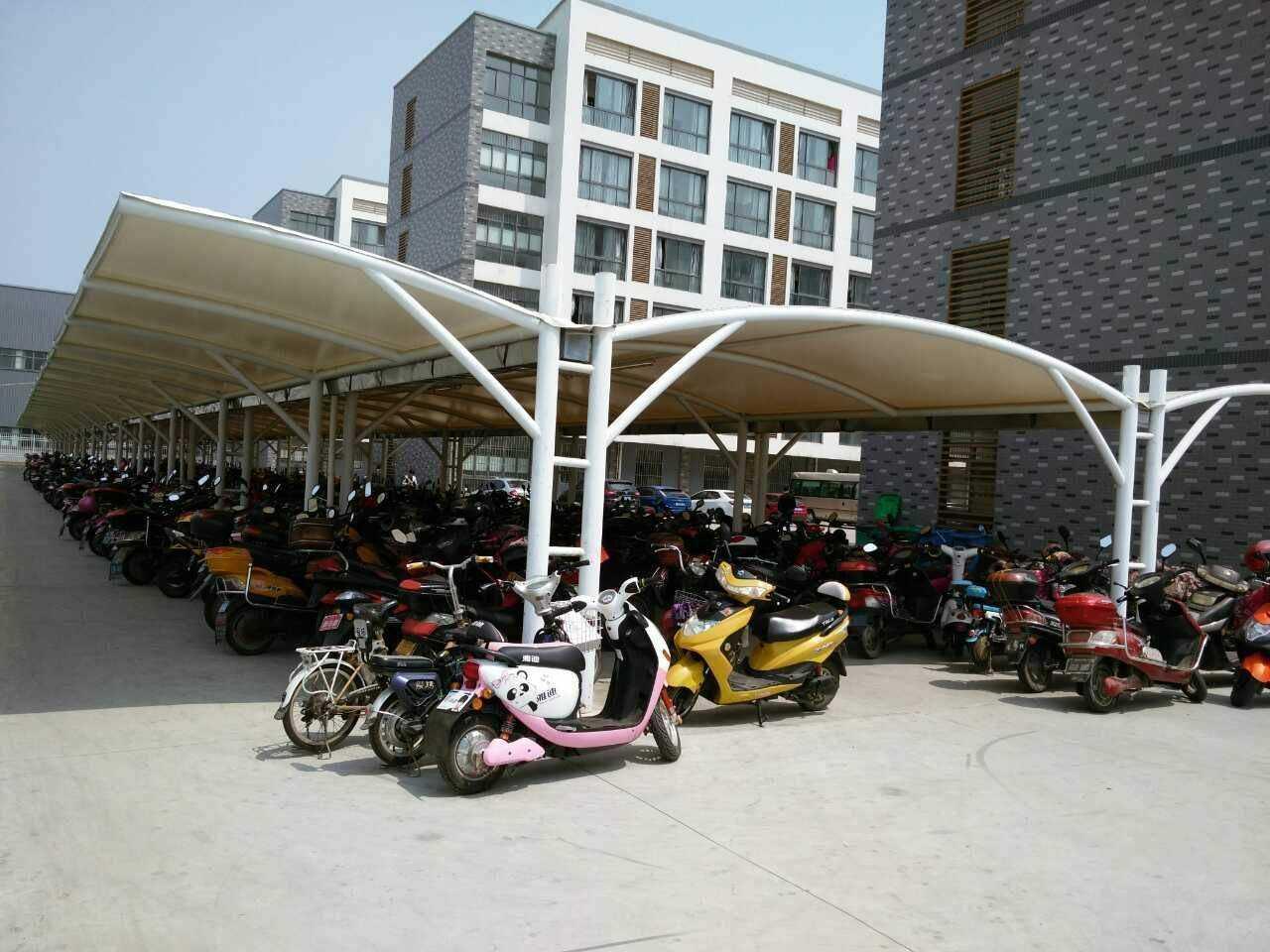 北京户外膜结构自行车棚定做