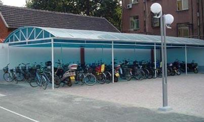 北京户外膜结构自行车棚设计