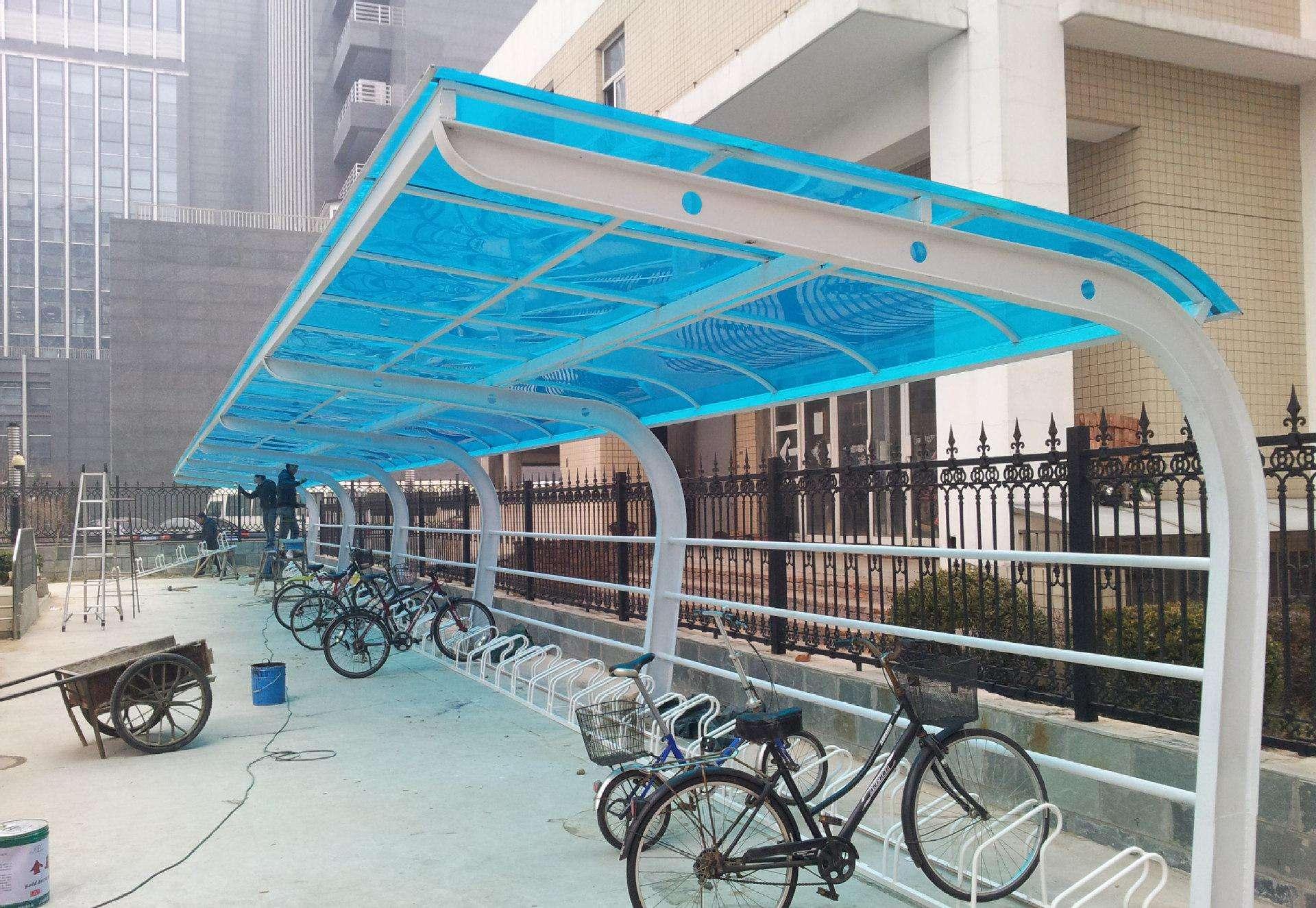 朝阳户外膜结构自行车棚直销