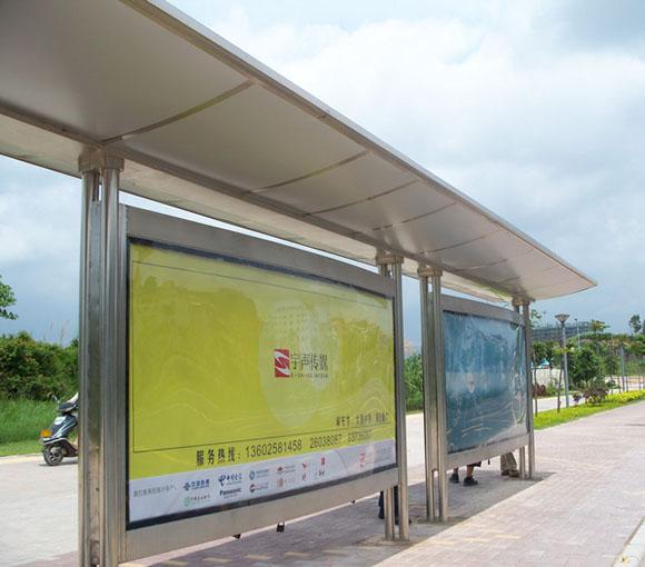 上海候车亭灯箱设计