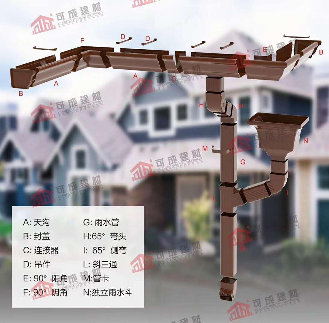 上海PVC天沟雨水管厂家联系电话