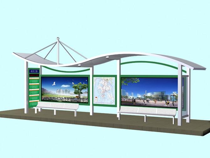 朝阳城市公交站台图片
