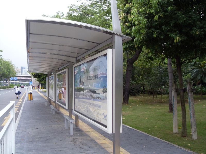 城市公交站台图片
