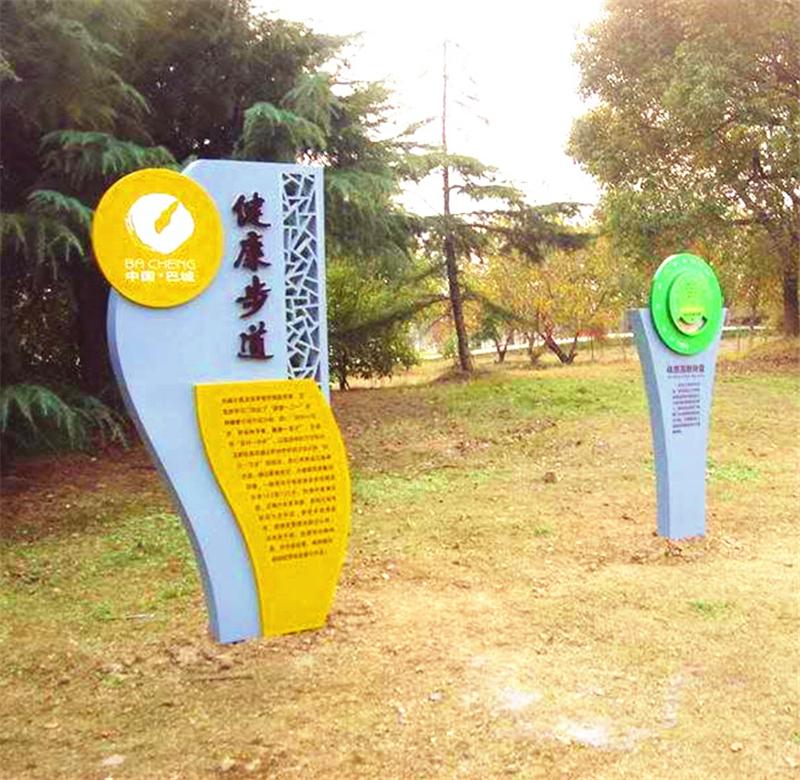 公园立式导视牌制作材料
