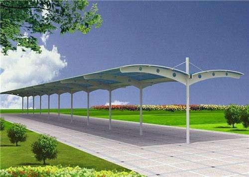 潍坊电动车雨棚自行车棚设计