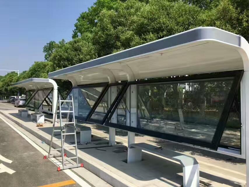 菏泽太阳能候车亭不锈钢