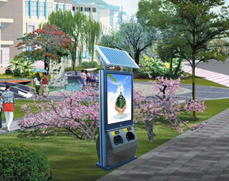 又一批太阳能广告垃圾箱完工准备打包发货