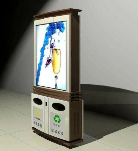 懿源|新款LED广告垃圾箱第一批即将投入使用